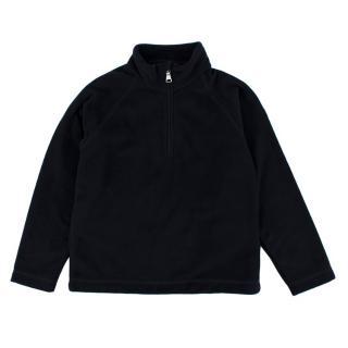 Moncler Navy Zipped Fleece Top