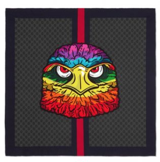 Gucci GG scarf with eagle
