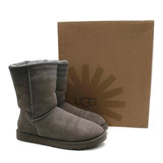 UGG Australia Grey Classic Shearling Short Boots