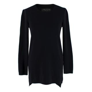 Rag & Bone Black Crew Neck Long Sleeve Wool Jumper