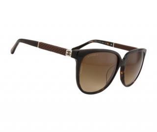 Chanel Dark Havana Tortoiseshell Sunglasses