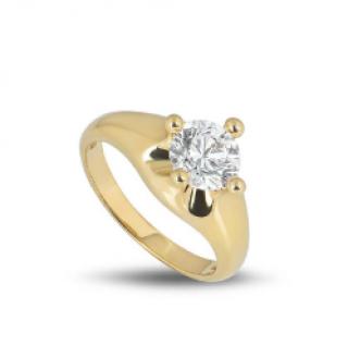 Bvlgari Yellow Gold Diamond Ring