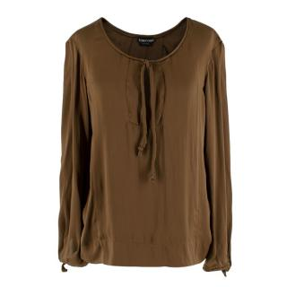 Tom Ford Brown Silk Blouse