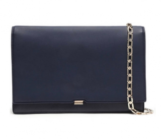 Victoria Beckham Navy Leather Classic Flap Bag