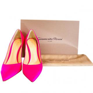 Gianvito Rossi Pink Satin Pumps