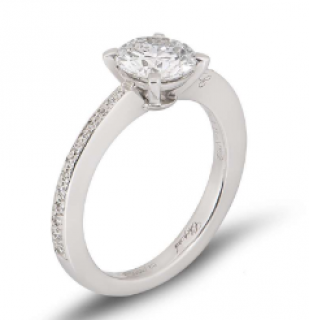 Chopard White Gold Diamond Solitaire Ring