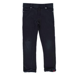 Moncler Navy Cotton Jersey 5-Pocket Trousers