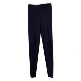 Versace Black Crepe Pants