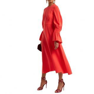Roksanda Duana gathered-detail silk-crepe dress