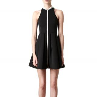 T by Alexander Wang Black Zipped Neoprene Skater Dress