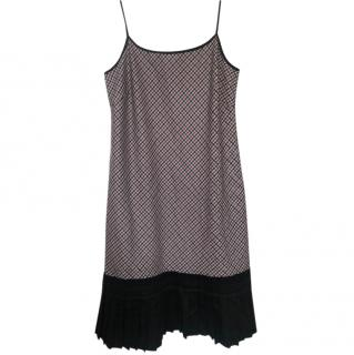 Mulberry Fringed Printed Slip Dress