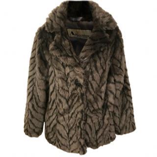 Aquascutum Faux Fur Oversize Coat