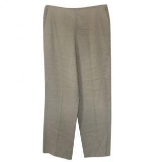 Hermes Linen Tailored Pants