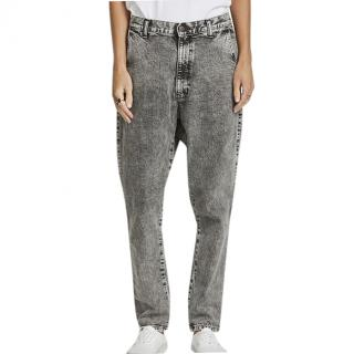 Bassike Grey Lo Slung jeans