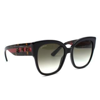 Gucci Oversized Embellished Round-Frame Sunglasses