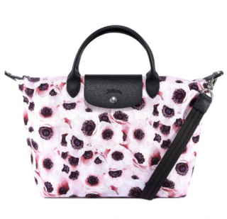 Longchamp Poppy Print Le Pliage Bag