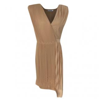 Viktor & Rolf PLeated Camel Asymmetric Dress