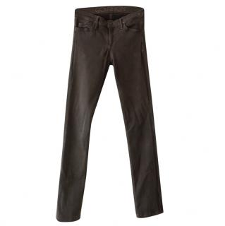 Goldsign Brown Stretch Skinny Jeans