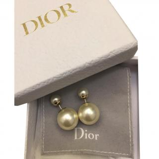 Dior Faux Pearl Tribales Earrings