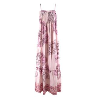 Tibi Pink Floral Patterned Maxi Dress