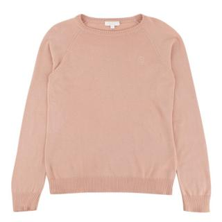 Gucci Pale Peach Cotton Cashmere Blend Knitted Jumper