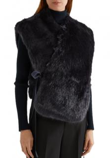 Helmut Lang Faux Fur Jacket