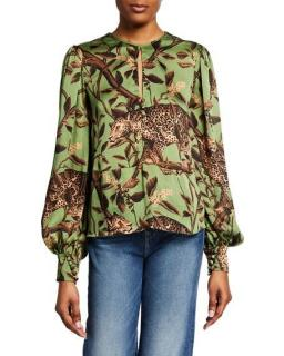 Johanna Ortiz Gifts Of Nature Pre-Fall Green Top