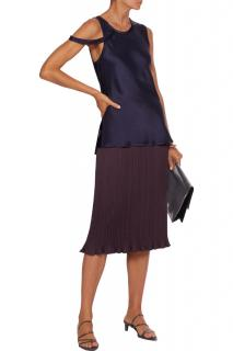 Max Mara Pleated Satin Skirt