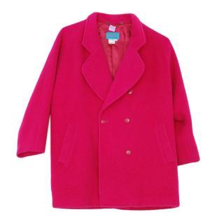 Kenzo Fuchsia Mohair & Wool Coat