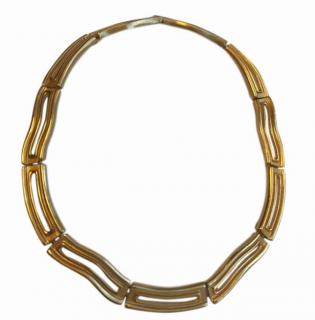 Givenchy Gold Tone Vintage Collar Necklace