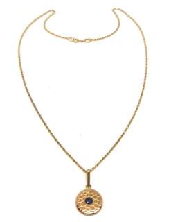 Bespoke 18ct Yellow Gold Antique Button Pendant Necklace