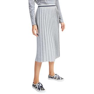 Max Mara Metallic Knit Pleated Skirt
