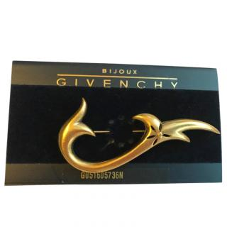 Givenchy Gold Tone Vintage Brooch