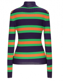 Marni Striped Turtleneck Wool Sweater