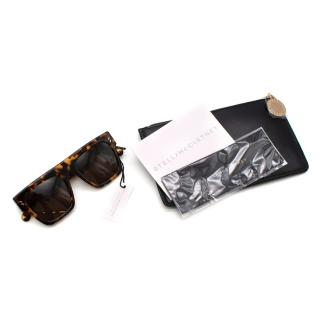 Stella McCartney Brown Tortoiseshell Oversize Sunglasses