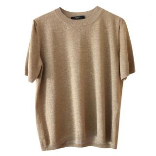 Max Mara Gold Knit Jumper