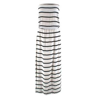 VIX by Paula Hermanny White Striped Strapless Dress