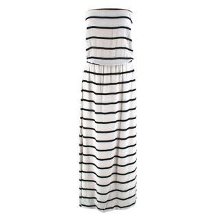 VIX by Paula Hermanny White Striped Strapless Dress