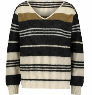 Brunello Cucinelli Cashmere & Wool Blend Striped Jumper