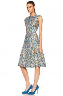 Roksanda Silk Blend Printed A-Line Dress