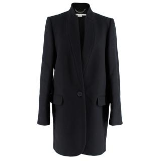 Stella McCartney Black Wool Blend Coat