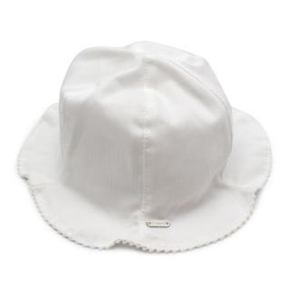 Il Trenino Artisnal Cotton Scalloped Baby Bucket Hat