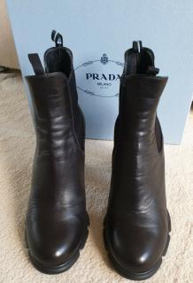 Prada Black Elasticated Pull-On Ankle Boots