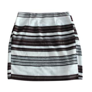 Missoni Striped Knit Black & White Mini Skirt