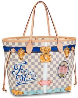 Louis Vuitton Damier Azur Summer trunks Resort Neverfull MM