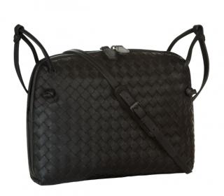 Bottega Veneta Black Intrecciato Leather Nodini Bag