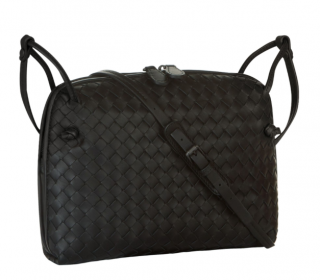 Bottega Veneta Black Intrecciato Leather Nodini Bag