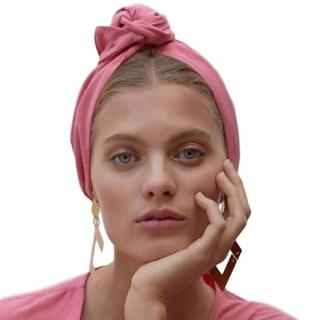 Cult Gaia Linen Pink Turband