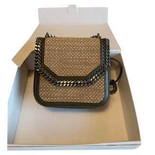 Stella McCartney faux leather and wicker Falabella box bag