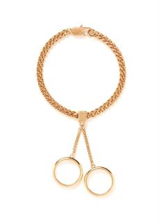 Chloe Gold Tone Chain And Ring Bracelet